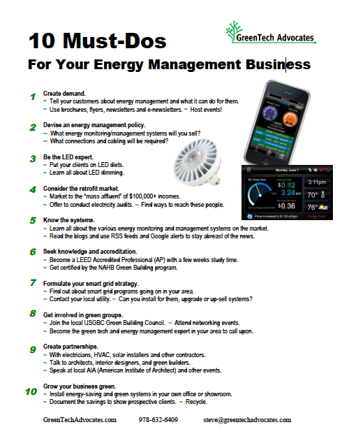 Must-Dos to Grow Your Energy Management Business in 2011