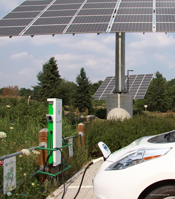 EV chargers and solar